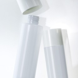 SR Packagings PET cylinder bottle, featuring overcap closure