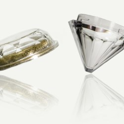 SR Packagings Diamond cosmetic jar brings a touch of glass to the shelf