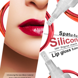SR Packagings Silicone Spatula Tip Lip Gloss Tube with 360 degree reach
