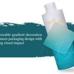Impeccable gradient decoration enhances packaging design with strong visual impact