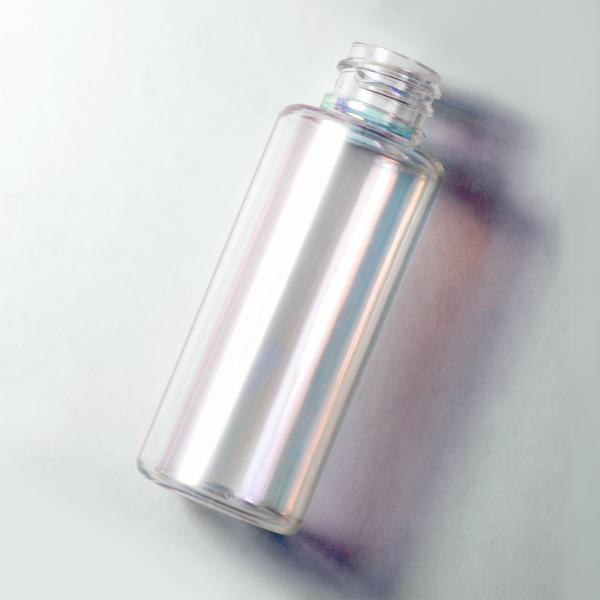 Chrome spray effect on packaging bottles & jars