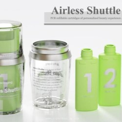 Airless Shuttle is the PCR refillable packaging for a personalized beauty experience