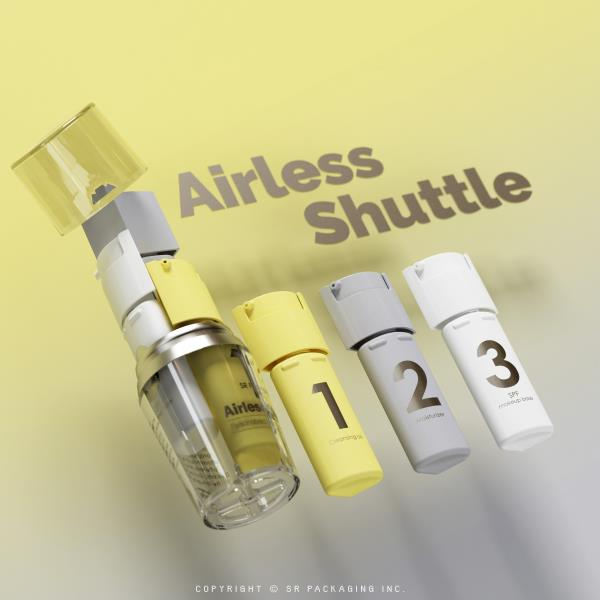 3-step skincare with the Airless Shuttle