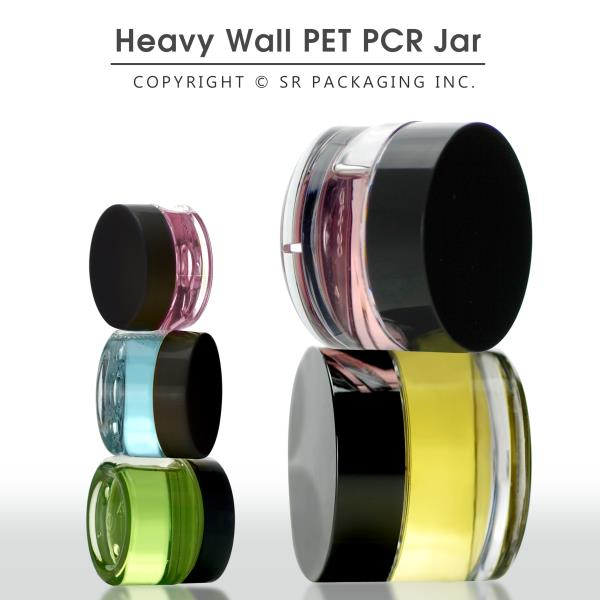 Heavy-wall and Thick-wall PCR PET Jar Collection