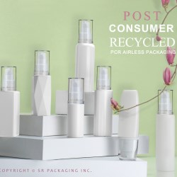 The PCR Airless Packaging Collection includes bottles, tubes, and tottles