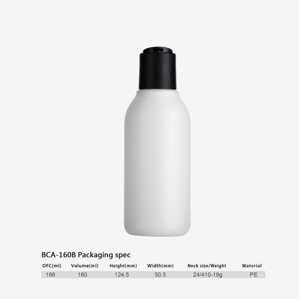 160 ml PE bottle-24/410-disc top cap