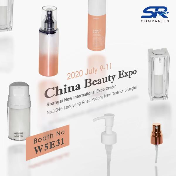 China Beauty Expo 2020, CBE Shanghai, will be held from July 9th to 11th, visit SR Packaging at stand W5E31