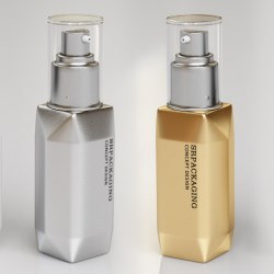 Packaging Concept Design: PCR Airless Bottle, the Cube Style