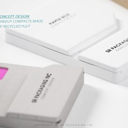 Style Two: Packaging Concept Design: Makeup Compacts Made of Recycled Pulp