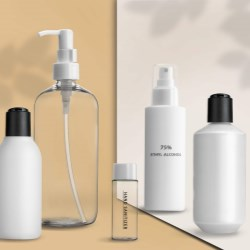 April 17: bottle & dispenser in sets for immediate shipment