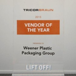 Weener Plastic US has acquired TricorBrauns Vendor of the Year award