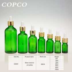 Glass essence oil bottles - Green