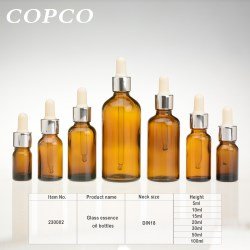Glass essence oil bottles - Amber