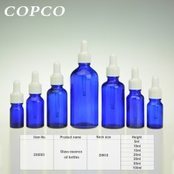 Glass essence oil bottles - Blue