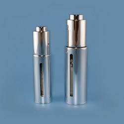Metalized glass dropper bottle with Alu shell