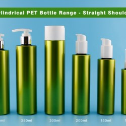 Cylindrical PET Bottle Range with Straight Shoulder