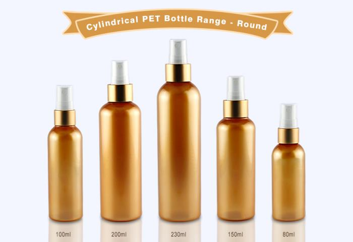Cylindrical PET Bottle Range with Round Shoulder