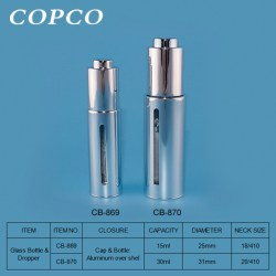 Copco released an Alu overshelled glass bottle with dropper