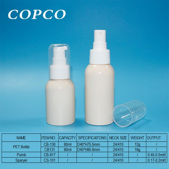 COPCOs practical and attractive twin PET bottles