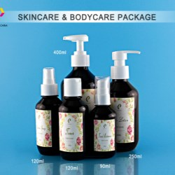Amber PET bottles made specifically for personal care products