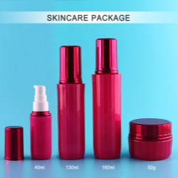 Fabulous ribbed PET bottle for cosmetic and skincare products