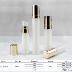 Airless bottle in small capacity for travel or samples for high end brands