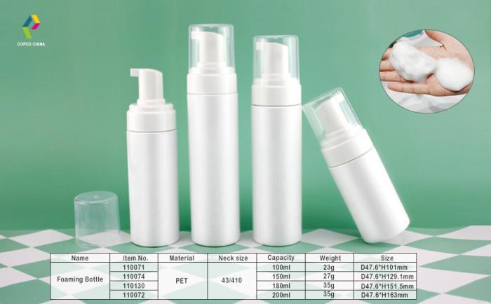 COPCOs foaming bottle in cylinder shape
