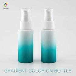 Gradient color spray on PET bottle