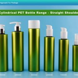 Cylindrical PET Bottle Range with Straight Shoulder