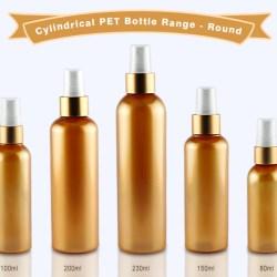 Cylindrical PET Bottle Range with Round Shoulder
