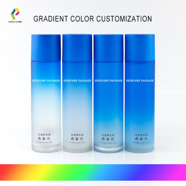 Gradient color customization for Thick-walled PET Packaging Bottles and 2-piece Closures
