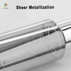 New decoration on cosmetic packs: Sheer metallization