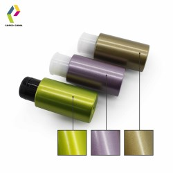 Sparkling PET bottles with metallic effect