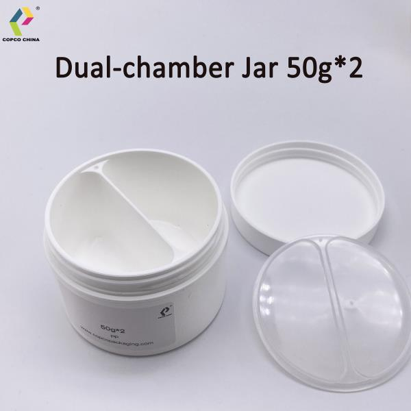 COPCO's 2x50g dual chamber PP jar