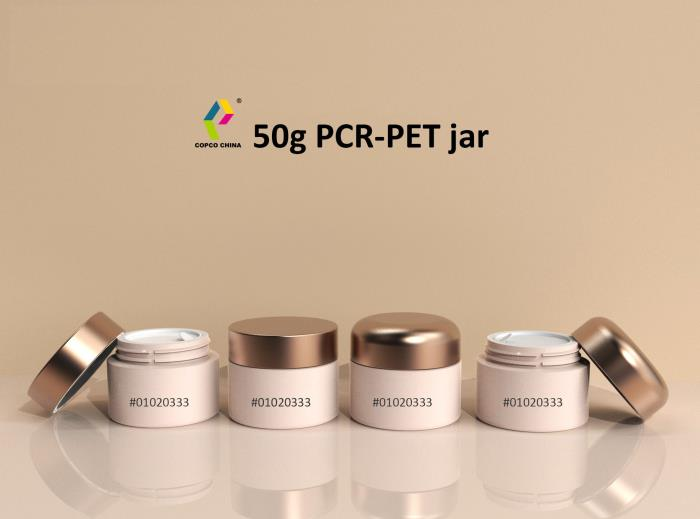 New 50g PCR PET jar from COPCO
