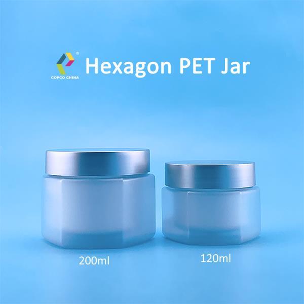 COPCO's hexagonal PET jar with spatula