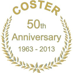 2013 marks a milestone for Coster: the company's 50th Anniversary