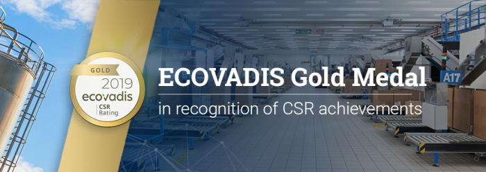 Coster awarded ECOVADIS Gold Medal for CSR achievements