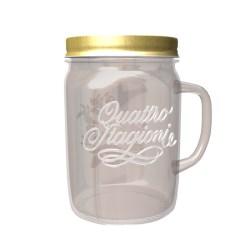 Mason jar 500ml with handle