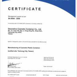 Cosmety has obtained SA8000 certification