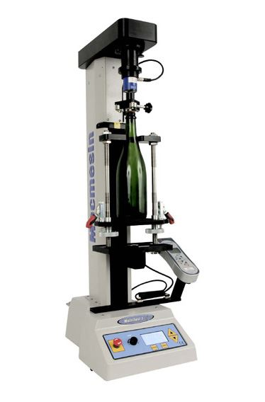Oeneo Bouchages Champagne cork extraction test is simplified by Mecmesin