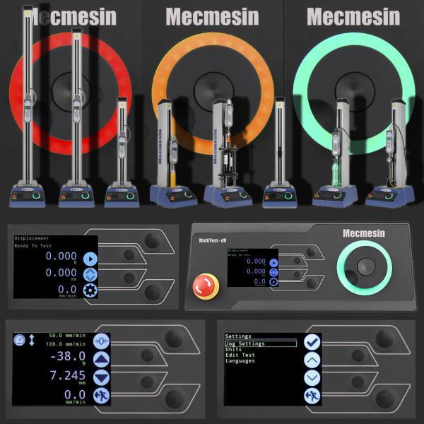 Universal testing machine range (0.5 - 5 kN)