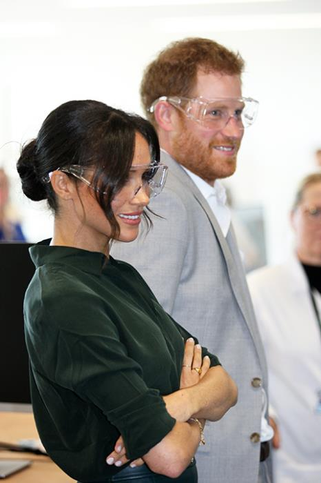 Mecmesin OmniTest machine demo by the Duchess of Sussex at University of Chichester Tech Park opening