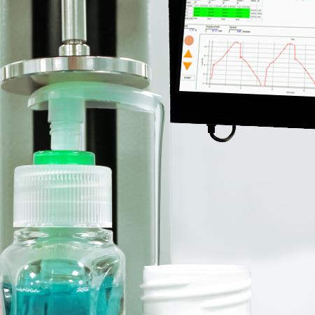 Hand sanitiser dispenser pump testing