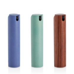 Quadpacks wooden travel perfume packs offer an elegant and sustainable solution