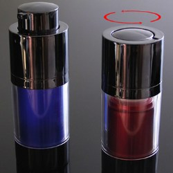 No-cap swivel airless lotion bottles