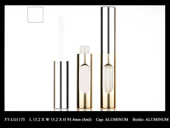 Fancy & Trends metallic lip gloss container with window
