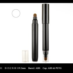 Cosmetic pen design for eye shadow products