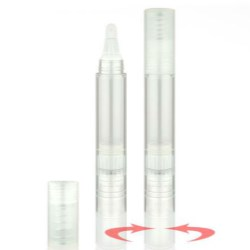 Retractable Cosmetic Twist Pen featuring twist back dispensing solution