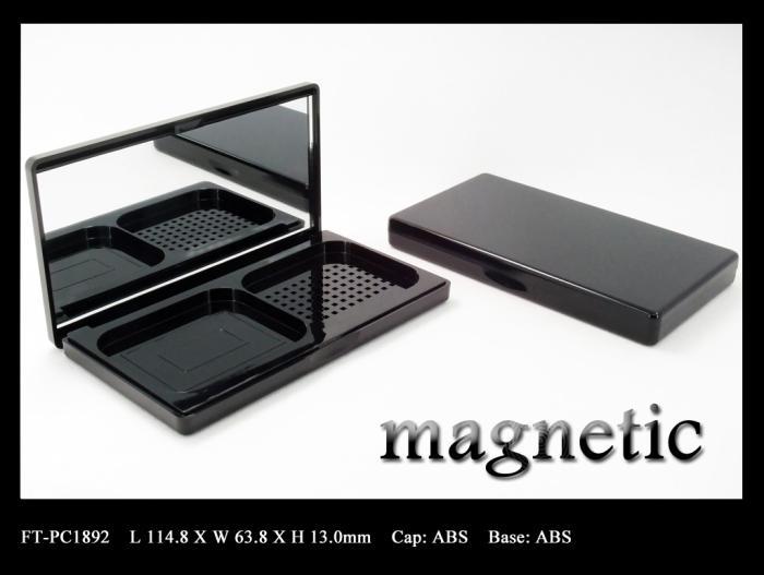 Pressed powder compact magnetic closure